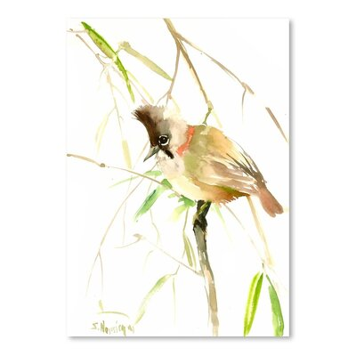 Americanflat 'Yuhina Bird' by Suren Nersisyan Art Print Wrapped on Canvas