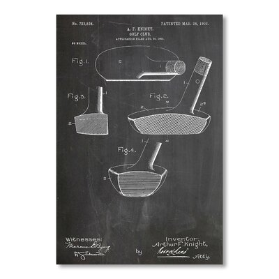 Americanflat 'Golf Putter' by House of Borders Graphic Art on Wrapped Canvas