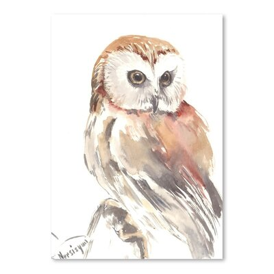 Americanflat 'Owl 9' by Suren Nersisyan Painting Print on Wrapped Canvas