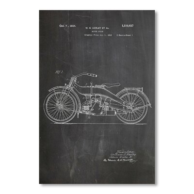 Americanflat 'Harley Motorcycle' by House of Borders Graphic Art Wrapped on Canvas