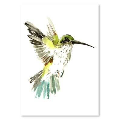 Americanflat Hummingbird Painting Print on Wrapped Canvas