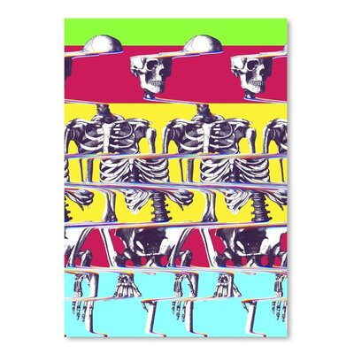Americanflat Skeleton Graphic Art on Wrapped Canvas
