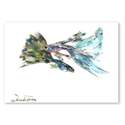 Americanflat 'Guppy Fish' by Suren Nersisyan Painting Print on Wrapped Canvas