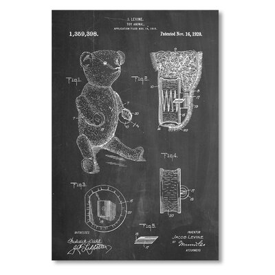 Americanflat 'Teddy Bear' by House of Borders Graphic Art Wrapped on Canvas