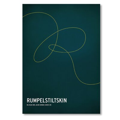 Americanflat 'Rumpelstiltskin' by Christian Jackson Typography on Wrapped Canvas