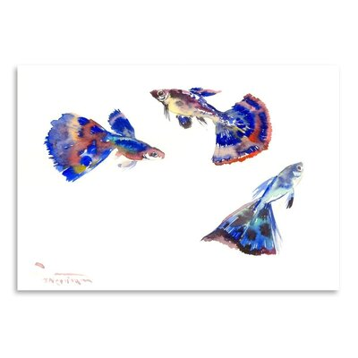 Americanflat 'Guppy Aquarium' by Suren Nersisyan Painting Print on Wrapped Canvas