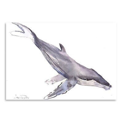 Americanflat 'Humpback Whale' by Suren Nersisyan Painting Print on Wrapped Canvas
