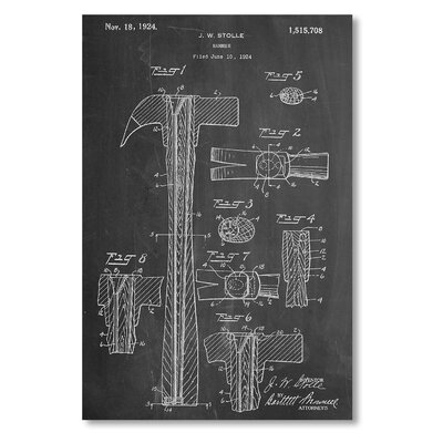 Americanflat 'Claw Hammer 1924' by House of Borders Graphic Art Wrapped on Canvas