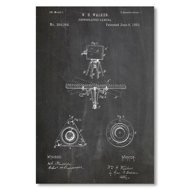 Americanflat 'Camera Eastman' by House of Borders Graphic Art on Wrapped Canvas
