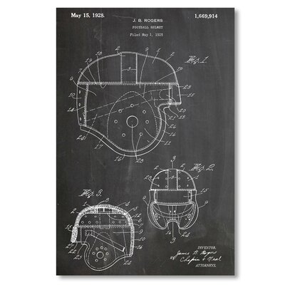 Americanflat 'Football Helmet 2' by House of Borders Graphic Art on Wrapped Canvas