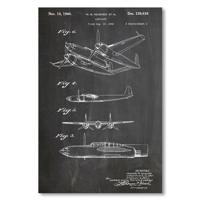 Americanflat 'Airplane' by House of Borders Graphic Art on Wrapped Canvas