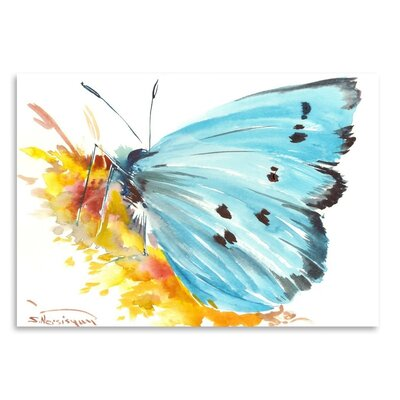 Americanflat 'Holly Blue Butterfly 2' by Suren Nersisyan Art Print Wrapped on Canvas