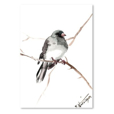 Americanflat 'Dark_Eyed_Junco' by Suren Nersisyan Art Print Wrapped on Canvas