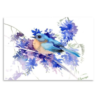 Americanflat 'Eastern Bluebird' by Suren Nersisyan Graphic Art on Wrapped Canvas