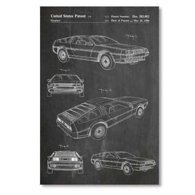 Americanflat 'DeLorean' by House of Borders Graphic Art on Wrapped Canvas