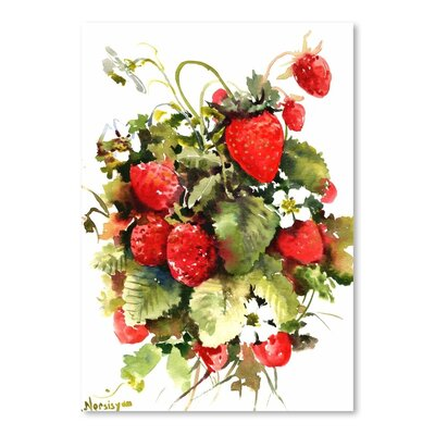 Americanflat 'Strawberries' by Suren Nersisyan Art Print Wrapped on Canvas