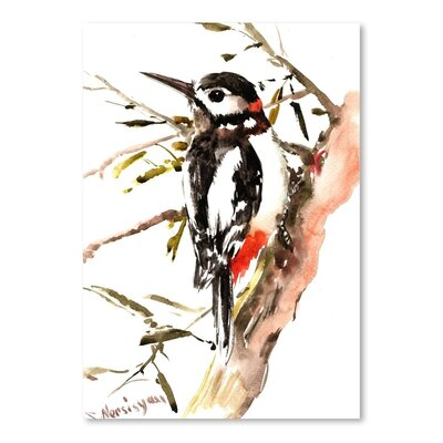 Americanflat 'Woodpecker' 2 by Suren Nersisyan Painting Print on Wrapped Canvas