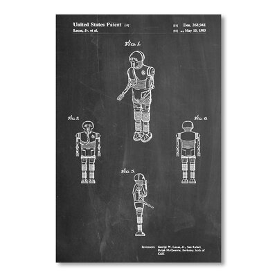 Americanflat 'Star Wars Droid I' by House of Borders Graphic Art Wrapped on Canvas
