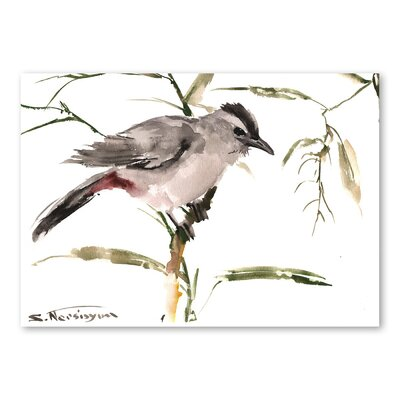 Americanflat 'Chickadee III' by Suren Nersisyan Painting Print on Wrapped Canvas