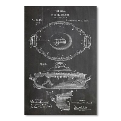 Americanflat 'Haviland Dish 1895' by House of Borders Graphic Art on Wrapped Canvas