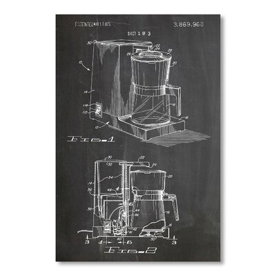 Americanflat 'Coffee Maker 1975' by House of Borders Graphic Art Wrapped on Canvas
