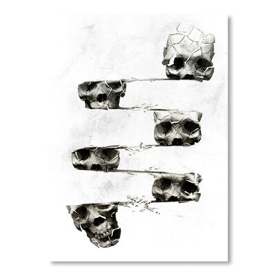 Americanflat 'Distorted Skull' by Ali Gulec Graphic Art on Wrapped Canvas