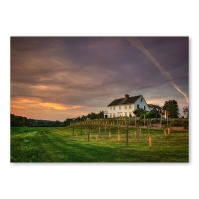 Americanflat 'Farmhouse' by Lina Kremsdorf Photographic Print on Wrapped Canvas