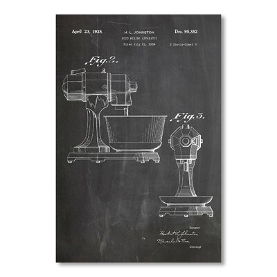 Americanflat 'Kitchen Aid' by House of Borders Graphic Art on Wrapped Canvas