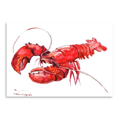 Americanflat 'Lobster' by Suren Nersisyan Painting Print on Wrapped Canvas