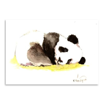Americanflat 'Sleeping Baby Panda' by Suren Nersisyan Painting Print on Wrapped Canvas