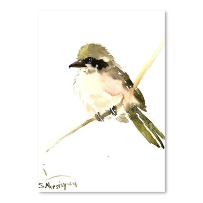 Americanflat 'Loggerhead Shrike 2' by Suren Nersisyan Art Print Wrapped on Canvas