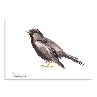 Americanflat 'Common Blackbird' by Suren Nersisyan Art Print Wrapped on Canvas