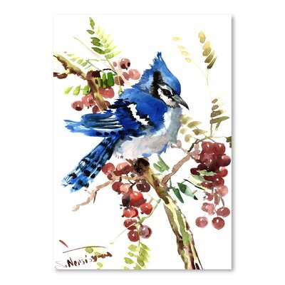 Americanflat 'Blue Jay 8' by Suren Nersisyan Painting Print on Wrapped Canvas
