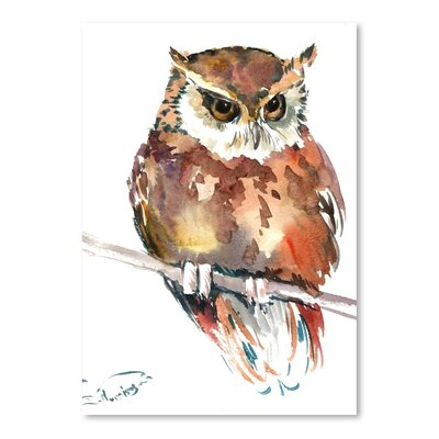 Americanflat 'Owl 4' by Suren Nersisyan Art Print Wrapped on Canvas