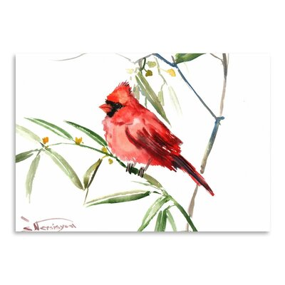 Americanflat 'Cardinal 2' by Suren Nersisyan Painting Print on Wrapped Canvas