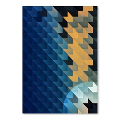 Americanflat Shwwt Dwwn Graphic Art Wrapped on Canvas