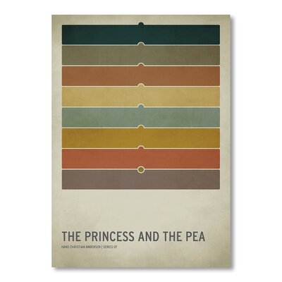 Americanflat 'Princess Pea' by Christian Jackson Graphic Art on Wrapped Canvas