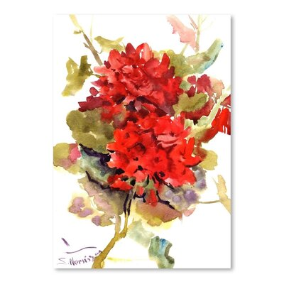 Americanflat 'Geranium' by Suren Nersisyan Painting Print on Wrapped Canvas