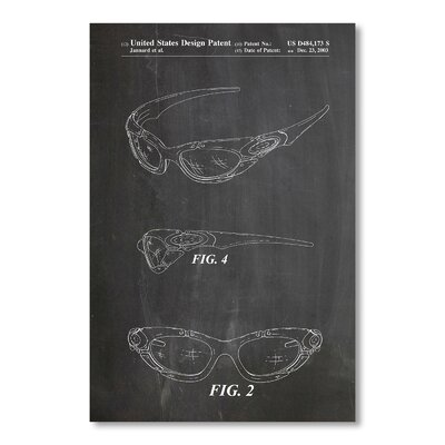 Americanflat 'Oakley Glasses' by House of Borders Graphic Art on Wrapped Canvas