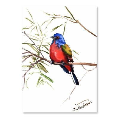 Americanflat 'Painted Bunting 2' by Suren Nersisyan Painting Print on Wrapped Canvas
