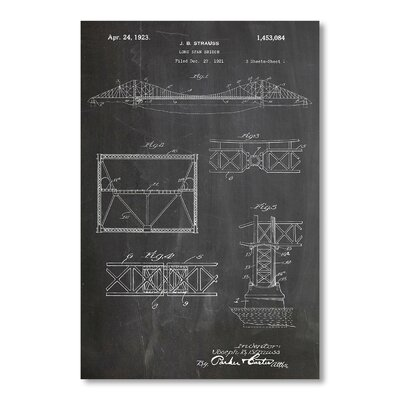 Americanflat 'Long Span Bridge' by House of Borders Graphic Art Wrapped on Canvas