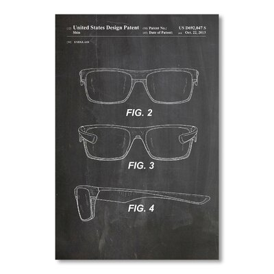 Americanflat 'Oakley Glasses Old School' by House of Borders Graphic Art on Wrapped Canvas
