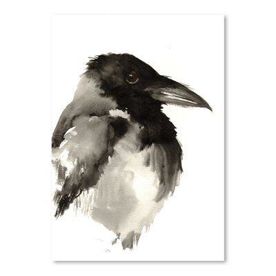 Americanflat Crow Painting Print on Wrapped Canvas