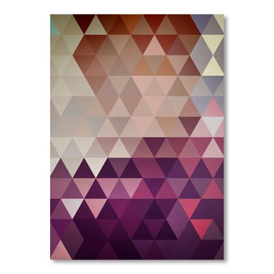Americanflat 'Trivector' by Christian Jackson Graphic Art on Wrapped Canvas