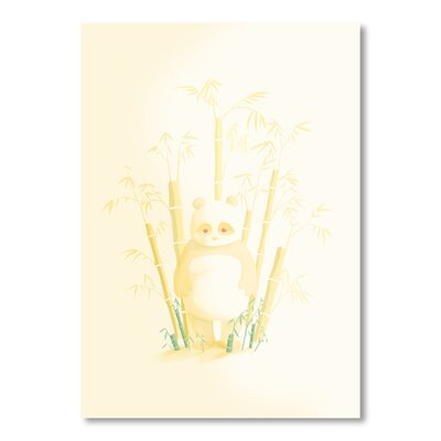 Americanflat 'White Panda' by Christian Jackson Graphic Art Wrapped on Canvas
