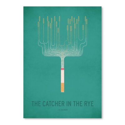 Americanflat The Cather in the Rye Minimal Graphic Art Wrapped on Canvas
