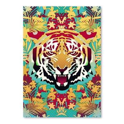 Americanflat Tiger 2  by Ali Gulec  Graphic Art Wrapped on Canvas