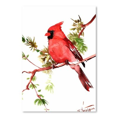 Americanflat 'Cardinal' by Suren Nersisyan Painting Print on Wrapped Canvas