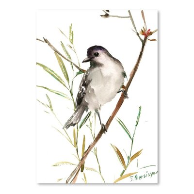 Americanflat 'Gray Catbird' by Suren Nersisyan Painting Print on Wrapped Canvas