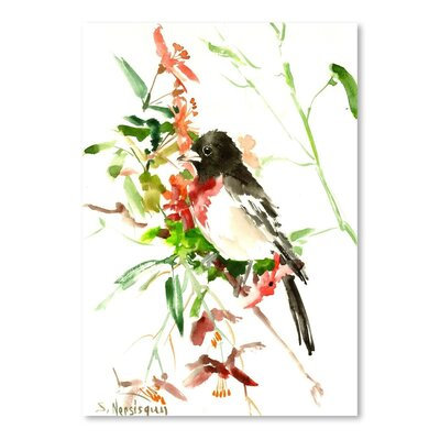 Americanflat 'Rose Breasted Grosbeak' by Suren Nersisyan Painting Print on Wrapped Canvas